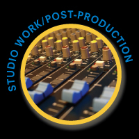 studio work post production button
